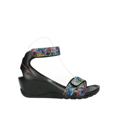 wolky sandalen 1176 do 497 multi zwart craquele leer