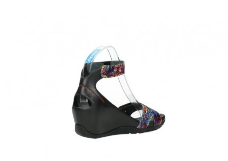 wolky sandalen 1176 do 497 multi zwart craquele leer_10