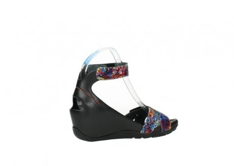wolky sandalen 1176 do 497 multi zwart craquele leer_11