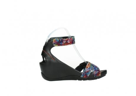 wolky sandalen 1176 do 497 multi zwart craquele leer_12