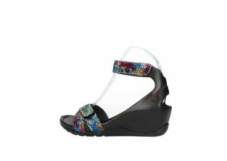 wolky sandalen 1176 do 497 multi zwart craquele leer_2