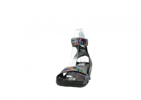 wolky sandalen 1176 do 497 multi zwart craquele leer_20