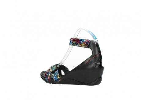 wolky sandalen 1176 do 497 multi zwart craquele leer_3