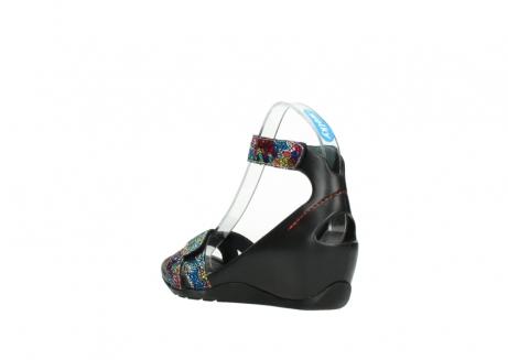 wolky sandalen 1176 do 497 multi zwart craquele leer_4