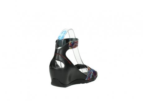 wolky sandalen 1176 do 497 multi zwart craquele leer_9