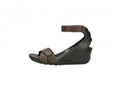 wolky sandalen 1176 do 615 taupe slangenprint leer_1