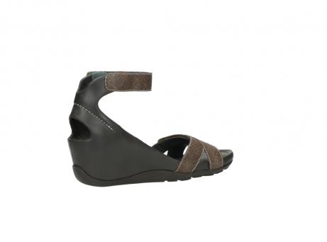 wolky sandalen 1176 do 615 taupe slangenprint leer_11