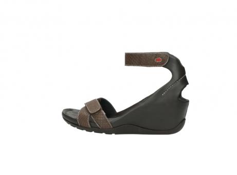 wolky sandalen 1176 do 615 taupe slangenprint leer_2