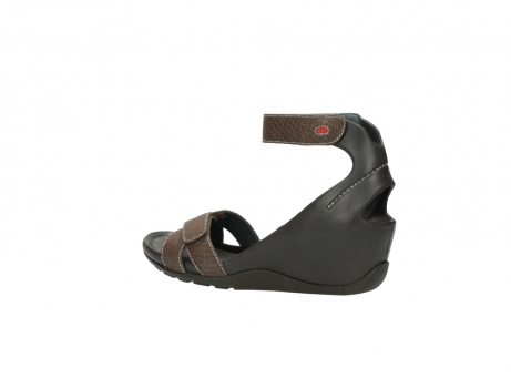 wolky sandalen 1176 do 615 taupe slangenprint leer_3