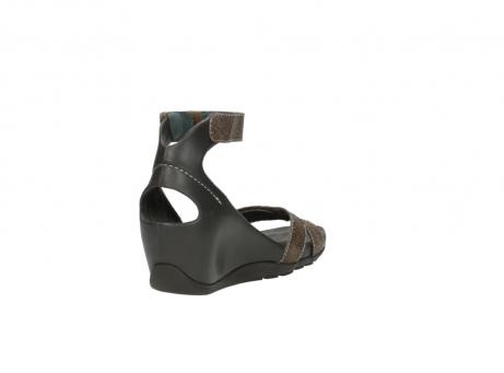 wolky sandalen 1176 do 615 taupe slangenprint leer_9
