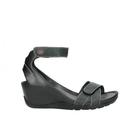 wolky sandalen 1176 do 621 antraciet slangeprint leer