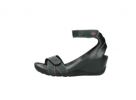 wolky sandalen 1176 do 621 antraciet slangeprint leer_1