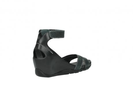 wolky sandalen 1176 do 621 antraciet slangeprint leer_10