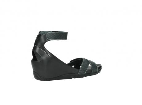 wolky sandalen 1176 do 621 antraciet slangeprint leer_11