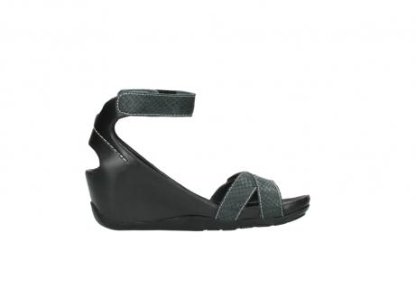 wolky sandalen 1176 do 621 antraciet slangeprint leer_13