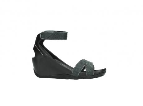 wolky sandalen 1176 do 621 antraciet slangeprint leer_14
