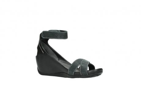 wolky sandalen 1176 do 621 antraciet slangeprint leer_15