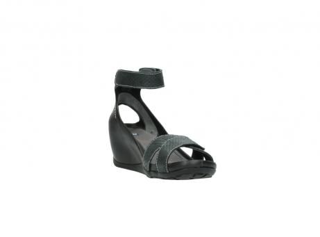 wolky sandalen 1176 do 621 antraciet slangeprint leer_17