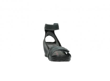 wolky sandalen 1176 do 621 antraciet slangeprint leer_18