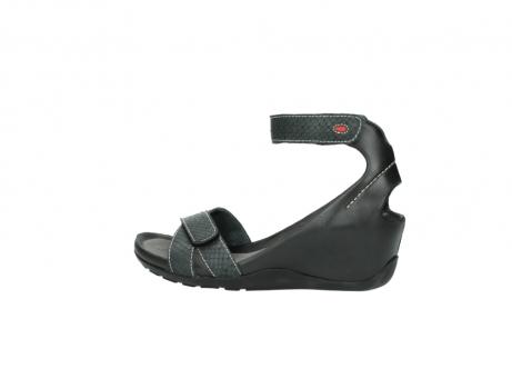 wolky sandalen 1176 do 621 antraciet slangeprint leer_2