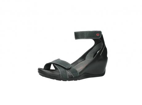 wolky sandalen 1176 do 621 antraciet slangeprint leer_23