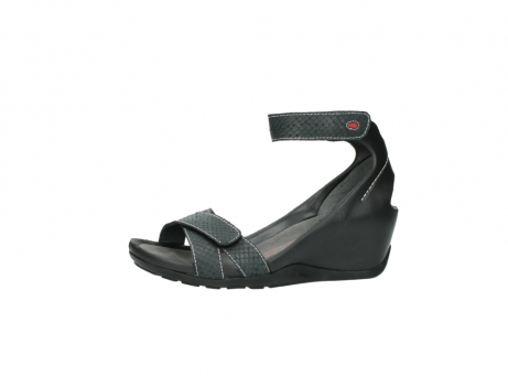 wolky sandalen 1176 do 621 antraciet slangeprint leer_24