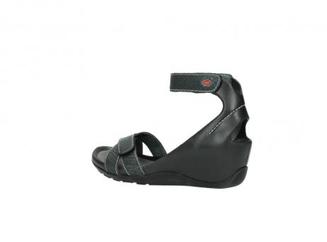 wolky sandalen 1176 do 621 antraciet slangeprint leer_3