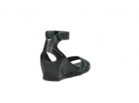 wolky sandalen 1176 do 621 antraciet slangeprint leer_9