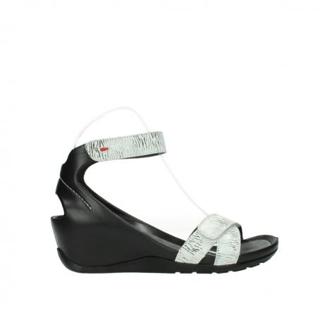wolky sandalen 1176 do 711 wit zwart canal leer