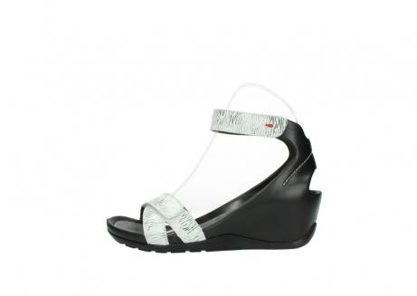 wolky sandalen 1176 do 711 wit zwart canal leer_1