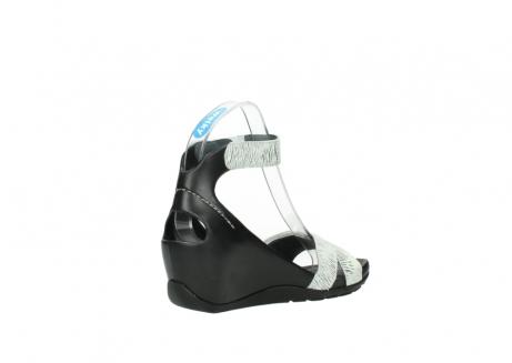 wolky sandalen 1176 do 711 wit zwart canal leer_10