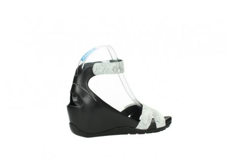 wolky sandalen 1176 do 711 wit zwart canal leer_11