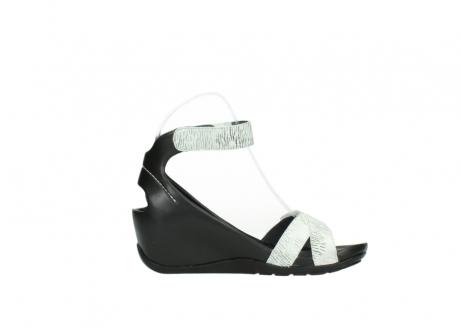 wolky sandalen 1176 do 711 wit zwart canal leer_13