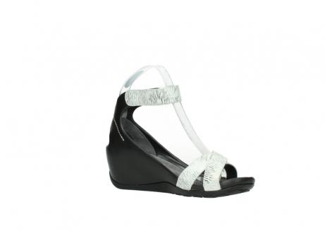 wolky sandalen 1176 do 711 wit zwart canal leer_15