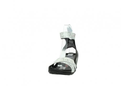 wolky sandalen 1176 do 711 wit zwart canal leer_20
