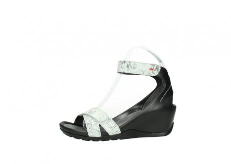 wolky sandalen 1176 do 711 wit zwart canal leer_24