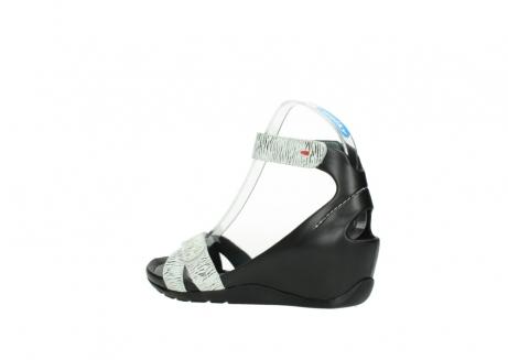 wolky sandalen 1176 do 711 wit zwart canal leer_3