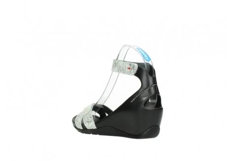wolky sandalen 1176 do 711 wit zwart canal leer_4