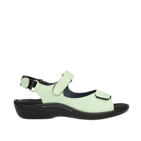 wolky sandalen 1300 salvia 270 licht groen leer