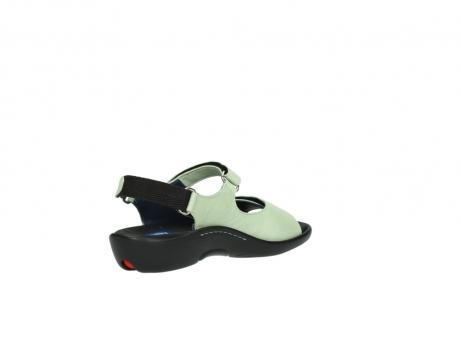 wolky sandalen 1300 salvia 270 licht groen leer_10
