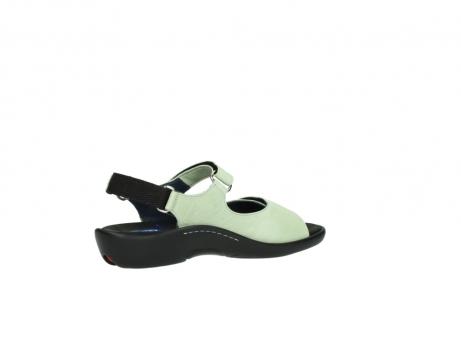 wolky sandalen 1300 salvia 270 licht groen leer_11