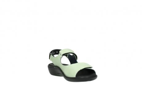 wolky sandalen 1300 salvia 270 licht groen leer_17