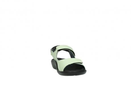 wolky sandalen 1300 salvia 270 licht groen leer_18