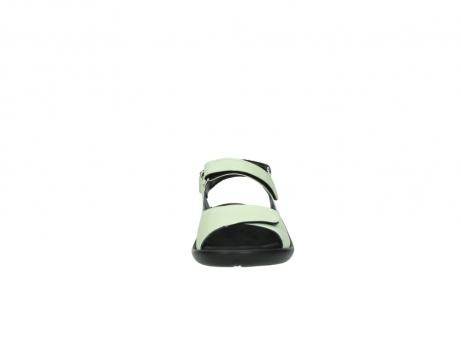 wolky sandalen 1300 salvia 270 licht groen leer_19