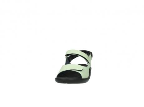 wolky sandalen 1300 salvia 270 licht groen leer_20