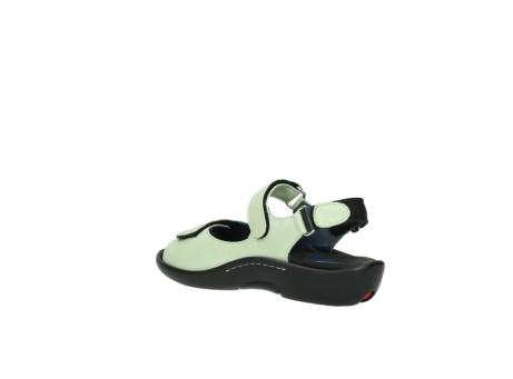 wolky sandalen 1300 salvia 270 licht groen leer_4