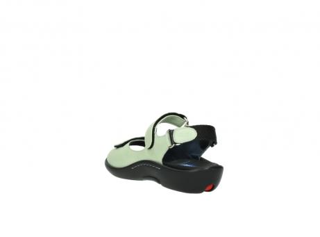 wolky sandalen 1300 salvia 270 licht groen leer_5