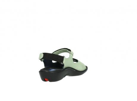 wolky sandalen 1300 salvia 270 licht groen leer_9