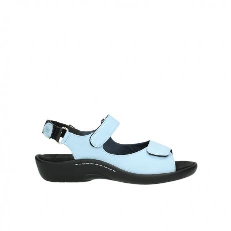 wolky sandalen 1300 salvia 280 licht blauw leer