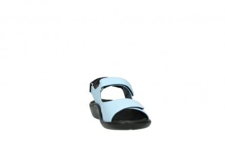 wolky sandalen 1300 salvia 280 licht blauw leer_18